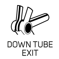 DOWN TUBE EXIT